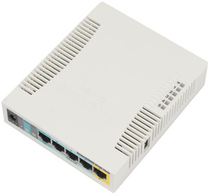 Маршрутизатор MikroTik RB951Ui-2HnD RouterBOARD with 600Mhz CPU, 128MB RAM, 5xLAN