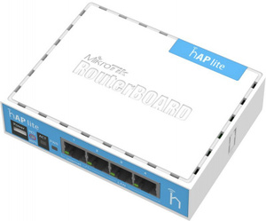 Маршрутизатор MikroTik RB941-2nD hAP lite with 650MHz CPU, 32MB RAM, 4xLAN, built-in 2.4Ghz 802.11b